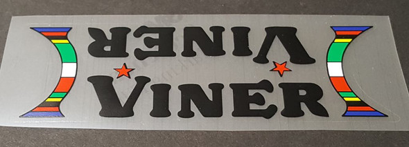 Viner Bicycle Down Tube Panel Decal-Choose Color