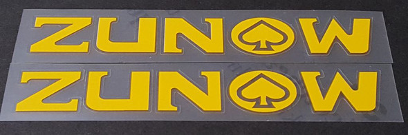 Zunow Bicycle Down Tube Decals - 1 Pair - Choose Color