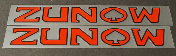 Zunow Bicycle Down Tube Decals - 1 Pair - Choose Colors