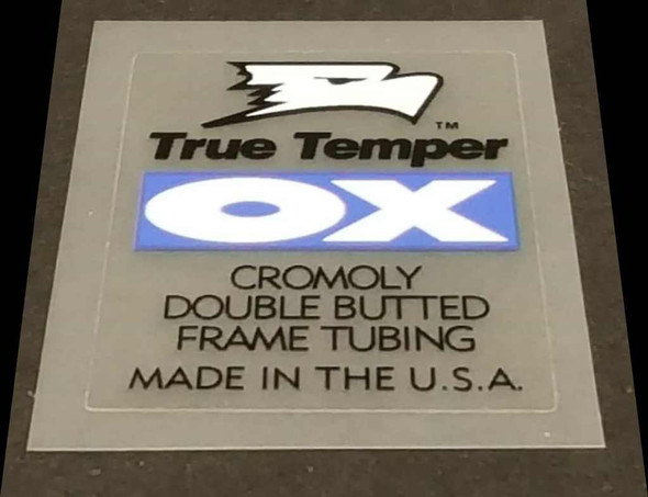 True Temper OX Cromoly Tubing Decal - Black on Clear