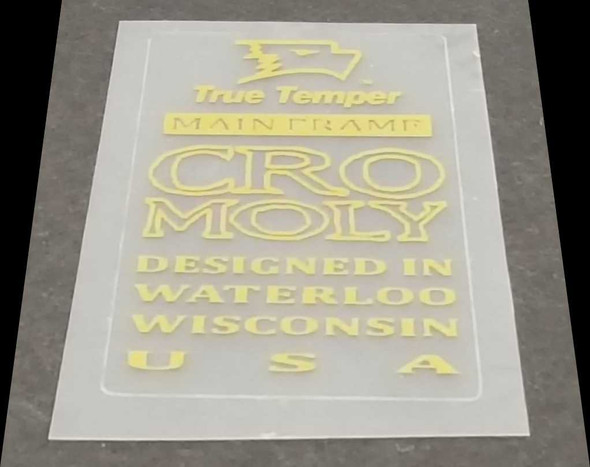 True Temper Main Frame CroMoly Tubing Decal - Gold