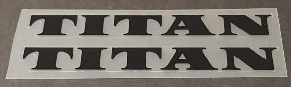 Titan Bicycle Down Tube Decals Large - 1 Pair - Choose Color