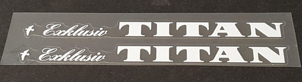 Titan Bicycle Top Tube Decals - 1 Pair - Choose Color