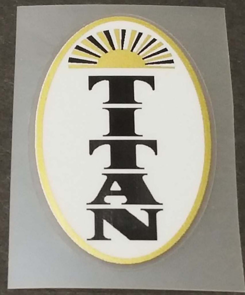 Titan Bicycle Sunburst Head Badge Decal