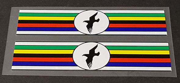 Titan Bicycle Stripes Decals with Bird Logo - 1 Pair