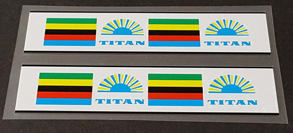 Titan Bicycle Stripes Decals with Sunburst - 1 Pair