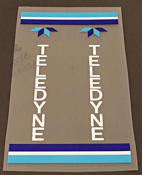 Teledyne Titan Seat Tube Wrap Decal