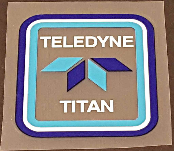 Teledyne Titan Head Badge Decal