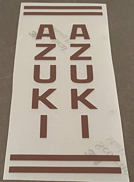 Azuki Seat Tube Assembly Decal - Choose Color