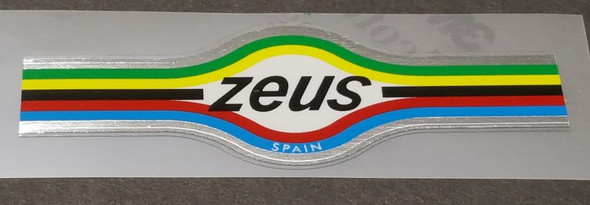 Zeus Bicycle Chrome Head Badge Decal