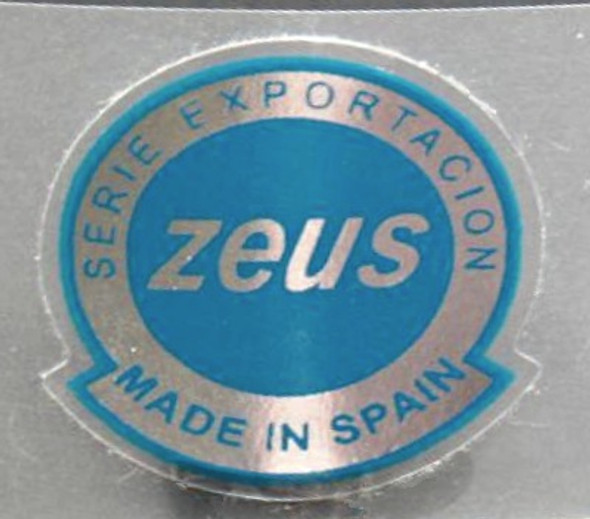 Zeus Bicycle Chrome Made in Spain Decal