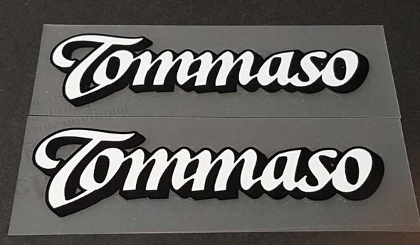 Tommaso Bicycle Down Tube Decals - 1 Pair - Choose Colors