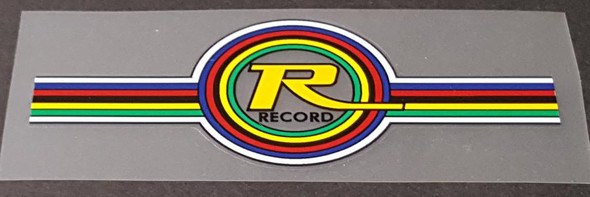 Record Bicycle Head Badge Decal - Choose Color