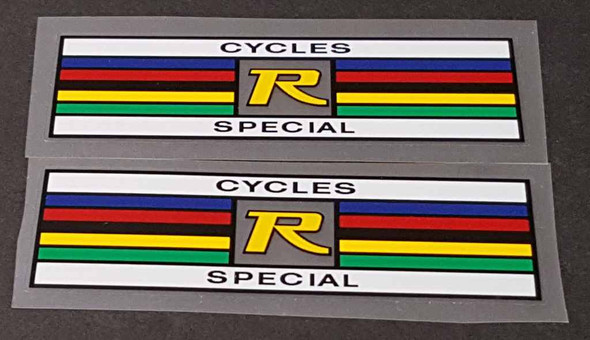 Record Bicycle Seat Tube Stripes Decals - Choose Color