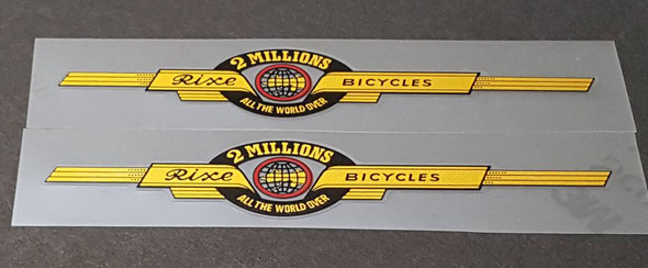 Rixe Bicycle Top Tube Decals--1 Pair