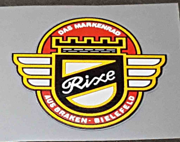 Rixe Bicycle Head Badge Decal