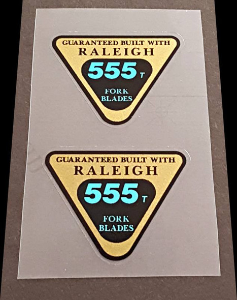 Raleigh 555t Fork Tubing Decals - 1 Pair