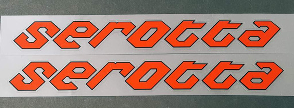 Serotta Bicycle Down Tube Decals  - 1 Pair - Choose Colors