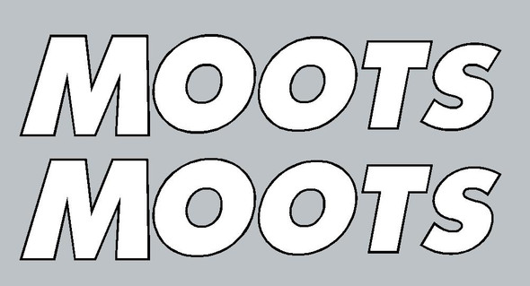Moots Fork Decals - Taper Right (Large) - 1 Pair - Choose Color