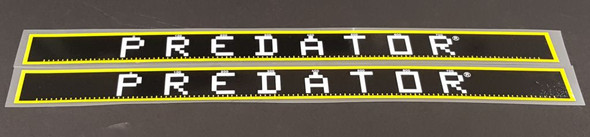 Schwinn Predator Down Tube Decals - 1 Pair - Black/Lemon - HALF PRICE
