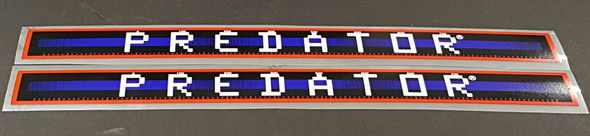 Schwinn Predator Down Tube Decals  - 1 Pair - Royal/Tomato - HALF PRICE