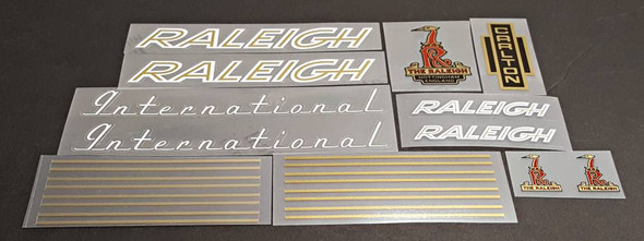 Raleigh 1970s International Bicycle Decal Set - White