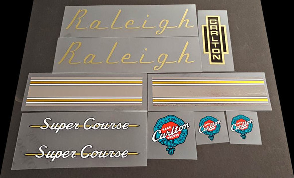 Raleigh Super Course Bicycle Decal Set