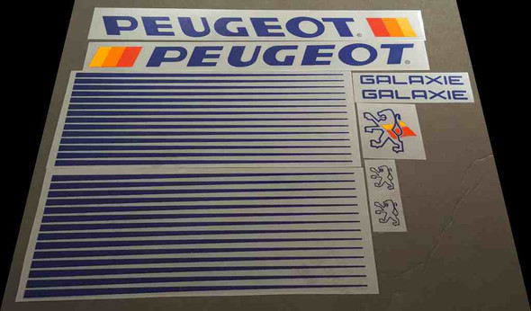 Peugeot Galaxie Bicycle Decal Set