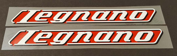 Legnano Bicycle Down Tube Decals - 1 Pair  - Choose Background Color