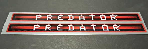 Schwinn Predator Down Tube Decals  - 1 Pair - Tomato with Gloss UV Laminate - HALF PRICE