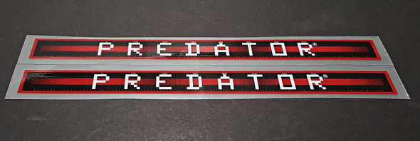 Schwinn Predator Down Tube Decals  - 1 Pair - Ruby with Gloss UV Laminate - HALF PRICE