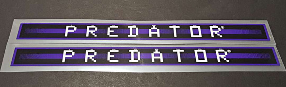 Schwinn Predator Down Tube Decals  - 1 Pair - Violet with Glossy UV Laminate  - HALF PRICE
