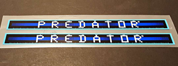 Schwinn Predator Down Tube Decals  - 1 Pair - Blue / Peacock  - HALF PRICE