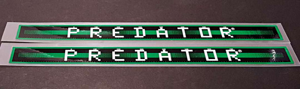 Schwinn Predator Down Tube Decals  - 1 Pair - Green - HALF PRICE