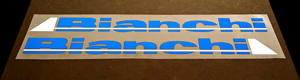 Bianchi Down Tube Decals - 1 Pair - Intense Blue/White - HALF PRICE