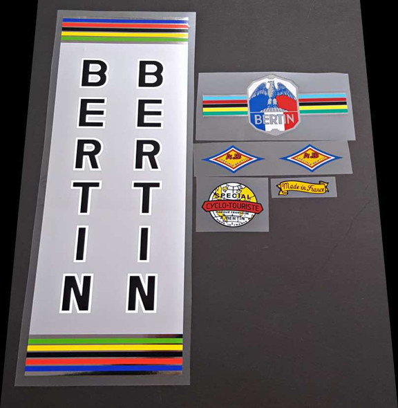 Bertin C-37 Chrome Bicycle Decal Set