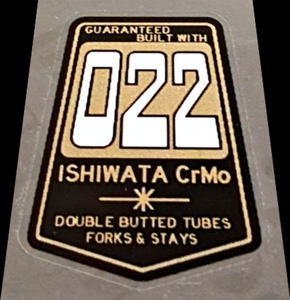 Ishiwata 022 Dbl Butted Frame Decal - Black