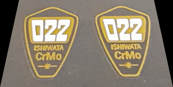 Ishiwata 022 Fork Decals - 1 Pair - Clear (small)