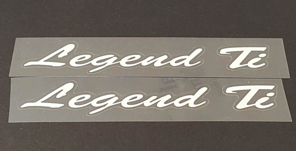 Serotta Legend Ti Top Tube Decals with Outline - 1 Pair - Choose Colors