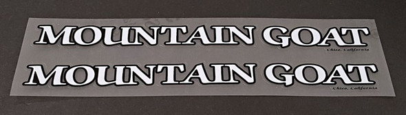 Mountain Goat Bicycle Down Tube Decals - 1 Pair - Choose Colors