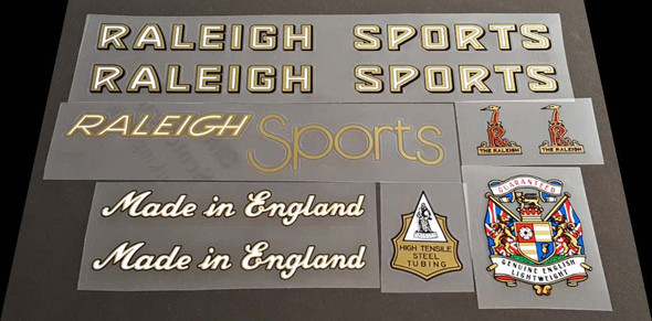 Raleigh Sports Bicycle Decal Set