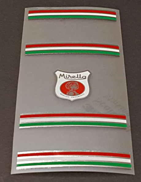 Mirella Bicycle Chrome Seat Tube Assembly Decal