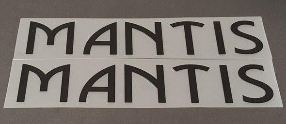 Mantis Down Tube Decals - Small