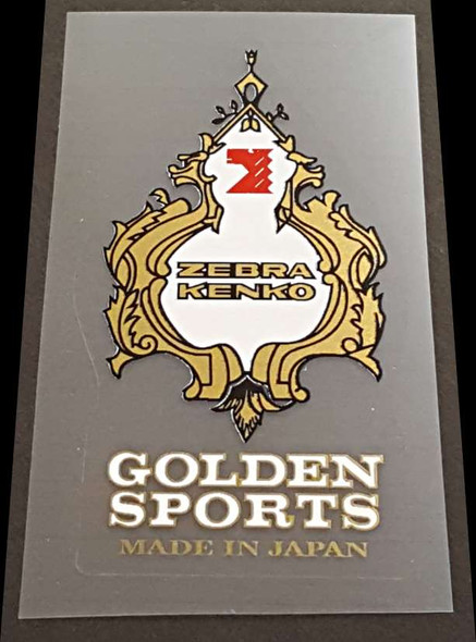 ZebraKenko  Golden Sports Seat Tube Badge Decal