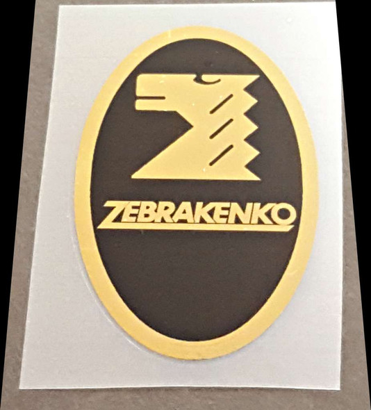 ZebraKenko  Head Badge Decal - Mirror Gold