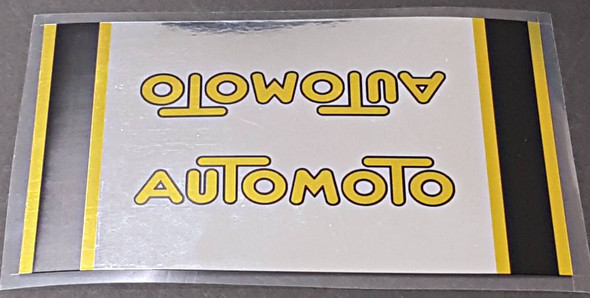 Automoto Chrome Down Tube Wrap Decal