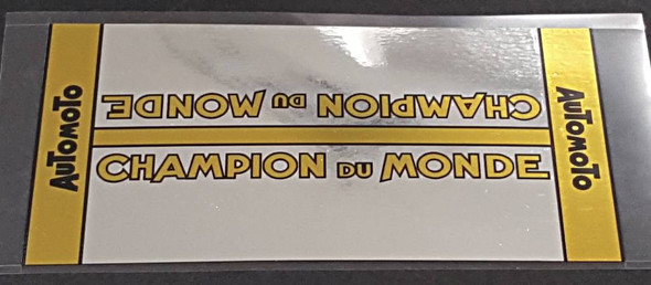 Automoto Chrome Champion du Monde Down Tube Wrap Decal