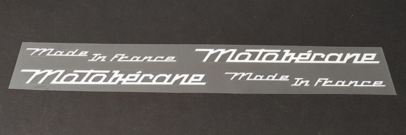 Customized Decals in Motobecane Style - Your Text - 2 Pair