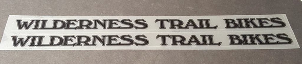 Customized Decals  - WTB Style - Your Text - 2 Pair