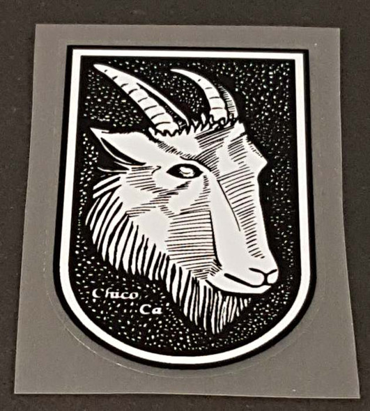 Mountain Goat Head Badge Decal - Large